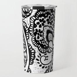 paisley batik black Travel Mug