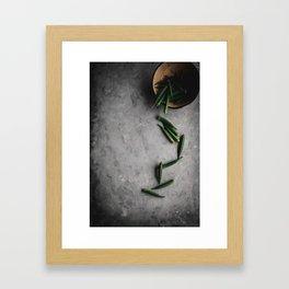 Okra Study 2 Framed Art Print