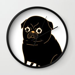 Tea Pug Wall Clock