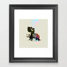 Auricular panda Framed Art Print