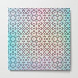 Pink and Blue Gradient Geometric Metal Print