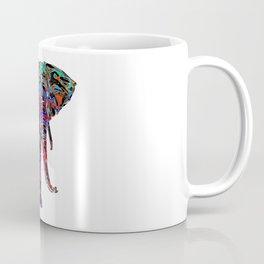 Minimal Abstract Elephant Coffee Mug