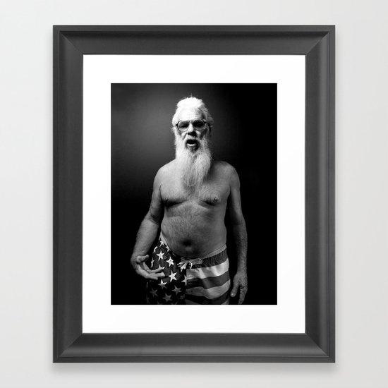 A Book of Beards Framed Art Print