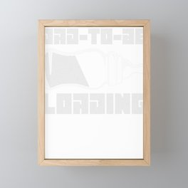 Dad to be Loading Computer Pun Funny Father's Day Gift Idea Framed Mini Art Print