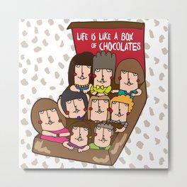 Life is like a box of chocolates Metal Print