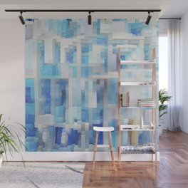 Abstract blue pattern 2 Wall Mural