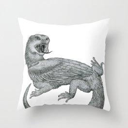 Aggressive Fantasy Creature Throw Pillow