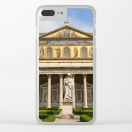 Basilica of St Paul Outside the Walls Clear iPhone Case