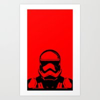 trooper Art Prints featuring Trooper  by Rabassa