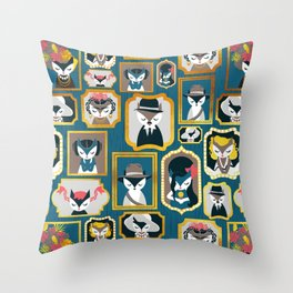 Cats wall of fame Throw Pillow