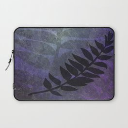 Purple Grunge with Foliage Digital Illustration - Artwork Laptop Sleeve