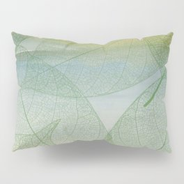 Delicate Painterly Leaves Pillow Sham