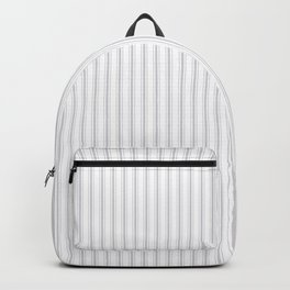 Soft Grey Mattress Ticking Narrow Striped Pattern - Fall Fashion 2018 Backpack