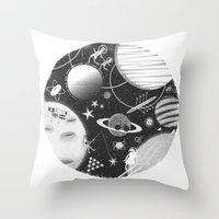 sport Throw Pillows featuring SPACE & SPORT by Kiley Victoria