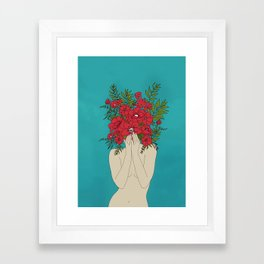 Blooming Red Framed Art Print
