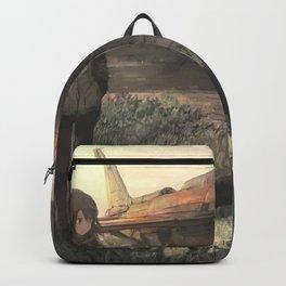 Airplane and girl Original Artwork Backpack