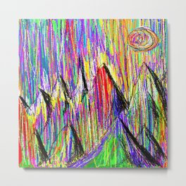 Colour Falls - Matt Texture 6 Metal Print