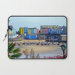 Tenby Harbour.Colour.Reflection. Laptop Sleeve