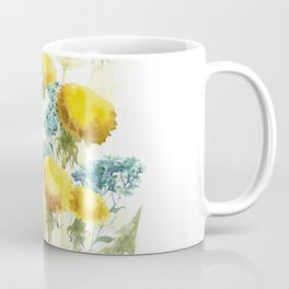 Watercolor flowers of blowball and forget-me-not Coffee Mug