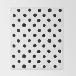 Modern Handpainted Abstract Polka Dot Pattern Throw Blanket