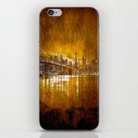 brooklyn bridge iPhone & iPod Skins featuring Brooklyn Bridge by Svetlana Sewell