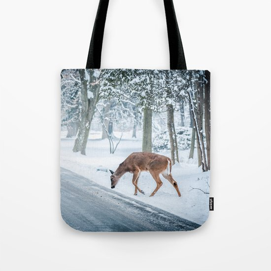 snow deer Tote Bag