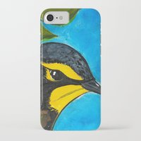 kentucky iPhone & iPod Cases featuring Kentucky Warbler  by Art by Peleegirl