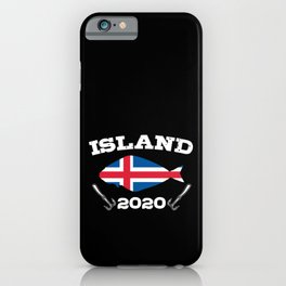Halibut Fishing Trip Iceand 2020 Fisherman Dad Son iPhone Case