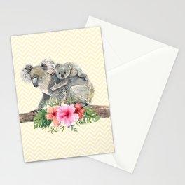 Watercolor Koala Bears Cute Mom & Baby Stationery Cards