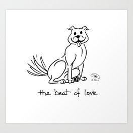 A Dog's Serenade: The Beat of Love Art Print