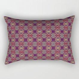 ABSTRACT DEEP PURPLE GEOMETRIC PATTERN Rectangular Pillow
