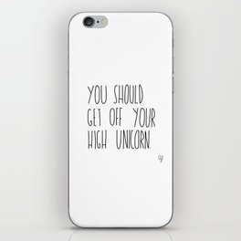 High Unicorn iPhone Skin