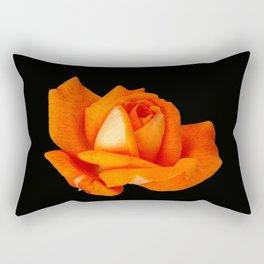 Orange Full Bloom Rose Rectangular Pillow