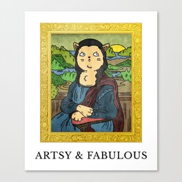Meow - Artsy and Fabulous Canvas Print
