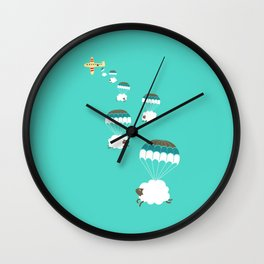 Sheepy clouds Wall Clock