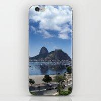 rio de janeiro iPhone & iPod Skins featuring Lovely Rio de Janeiro by Michel Lent