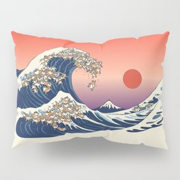 The Great Wave of Shiba Inu Pillow Sham