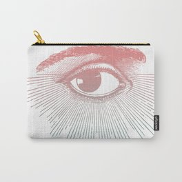 I See You. Pink Turquoise Gradient Sunburst Carry-All Pouch