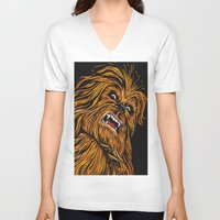 chewbacca V-neck T-shirts featuring Chewbacca by Laura-A
