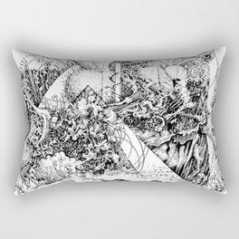 symptomatic recline Rectangular Pillow
