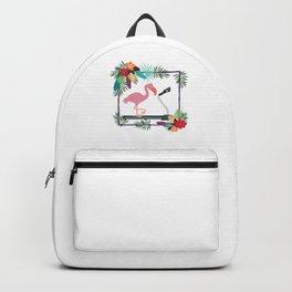 Flamingo on Treadmill Backpack