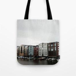 Waterfront in Trondheim Tote Bag