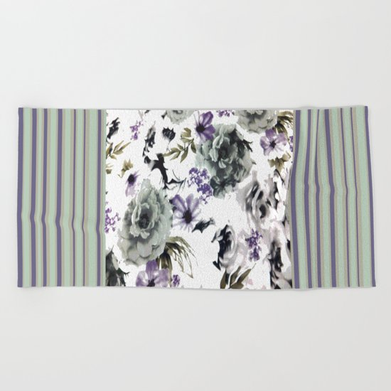 Kwan Yin Roses Beach Towel