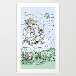 Monster Tea Party (Color) Art Print