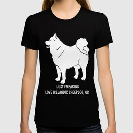 Icelandic-Sheepdog-tshirt,-just-freaking-love-my-Icelandic-Sheepdog T-shirt
