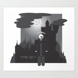 vamp.eye.r Art Print