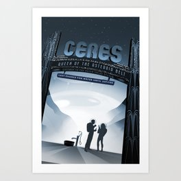 NASA Retro Space Travel Poster #1 Art Print