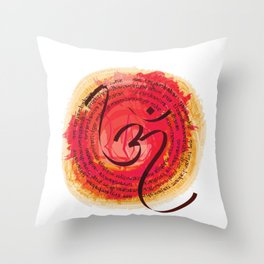 Sacred Hindu Chants Trishul And Om Lord Shiva Throw Pillow