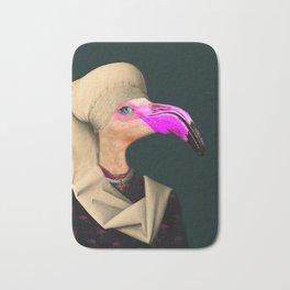 Portrait of a Flamingo Bath Mat