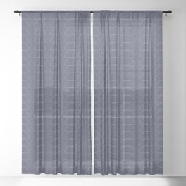 Maude Outline Pattern XII Sheer Curtain